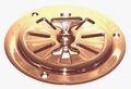 Brass Ventilating valve round with knob outside Ø125mm
