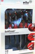 Wiha Schraubendreher Set SoftFinish® 530SF HK6 6-tlg, Schlitz/PH
